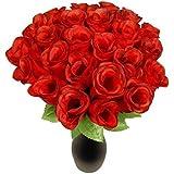 Schramm Onlinehandel Rose rosse artificiali, in seta, 72 pezzi, 36 cm