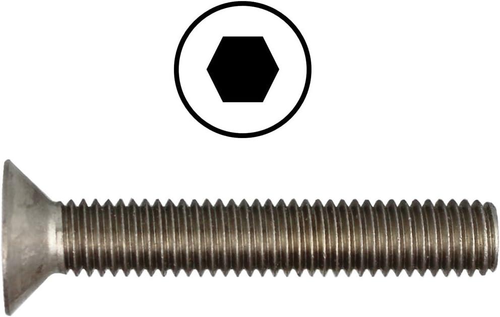 seg/ún la norma DIN 7991 50/unidades de tornillos de cabeza plana avellanada de acero inoxidable A2 M2,5/x 4/hasta M12/x 150,/con muesca interna hexagonal