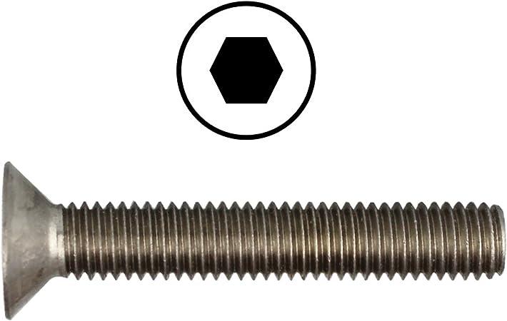 En acier inoxydable/A2 Lot de 50/vis /à t/ête frais/ée avec six pans DIN/7991