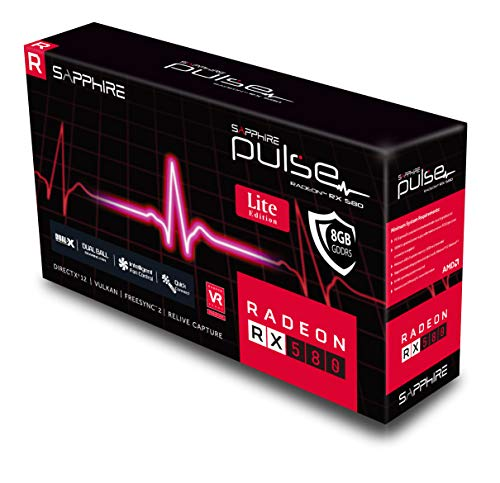 Sapphire 11265-67-20G Radeon Pulse RX 580 8GB GDDR5 Dual HDMI / DUAL DP OC w/ Backplate (UEFI) PCI-E Graphics Card
