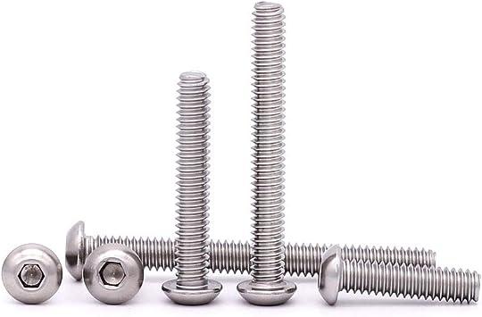 10 PCS 304 Stainless Steel 18-8 Allen Hex Drive,Fully Machine Thread Bright Finish 3//8-16 x 1-1//2 Button Head Socket Cap Bolts Screws