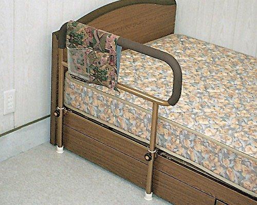 吉野商会 ささえ (普通型) 重量4kg ベッド用起上がり手すり 小物整理バッグ付 B001GZFGQG