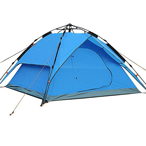 KARMAS PRODUCTS Double Layer Lightweight Portable Outdoor Tent Instant Automatic Pop Up Tent for Camping Backpacking 3-Season, Blue