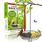 Large Hanging Bird Feeder by Nature Anywhere - Gift Edition with Removable Tray, Birdseed Air Circulation & Beautiful Packaging. The World's Most Advanced Bird Feeder.