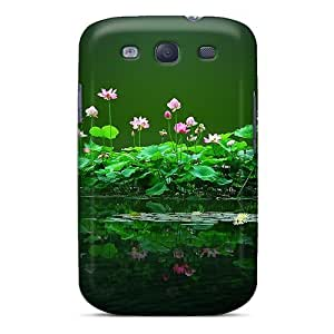 Top Quality Case Cover For Galaxy S3 Case With Nice Swamp Flowers Appearance by lolosakes