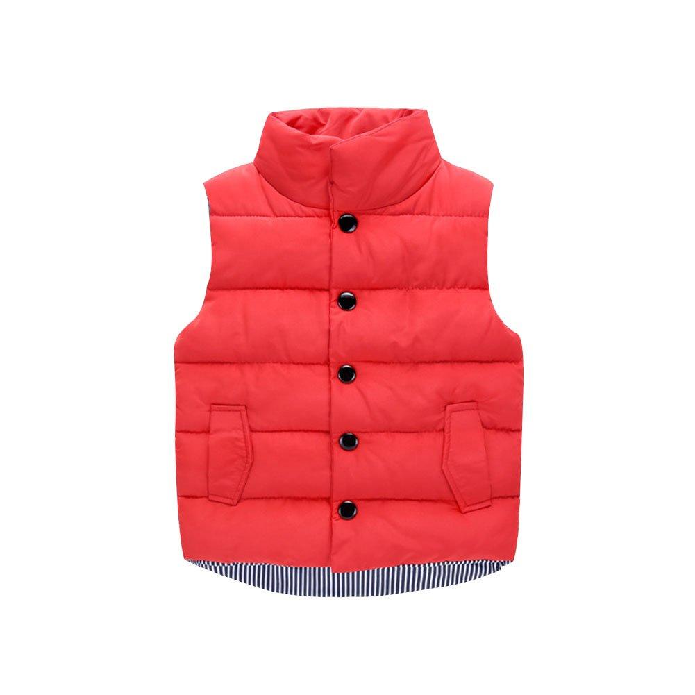 LSHEL Mädchen Jungen Ultra Leichte Daunenweste Ärmellos Winterjacke Oberbekleidung