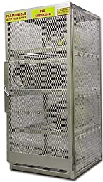 Securall Aluminum Gas Cylinder Cabinet - 16-Cylinder Capacity