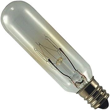 Base. E12 2-15T6//145V  Light Bulb Lamp 15 watt 145 volt Candelabra Screw