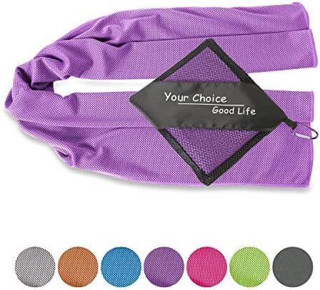 Your Choice Cooling Towel - Golf, Yoga, Gym, Fitness, Camping, Hiking, Bowling, Travel, Outdoor Sports Towel for Instant Cooling Relief