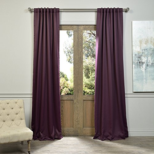 Eggplant Curtains (HPD Half Price Drapes BOCH-201301-84 Blackout Curtain, 50 x 84, Aubergine)