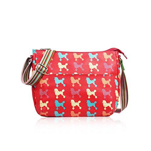 HB Style - Bolso estilo bolera para mujer Multicolor multicolor Rosso