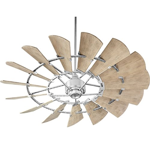 Quorum 196015-9 Windmill Ceiling Fan in Galvanized with UL D
