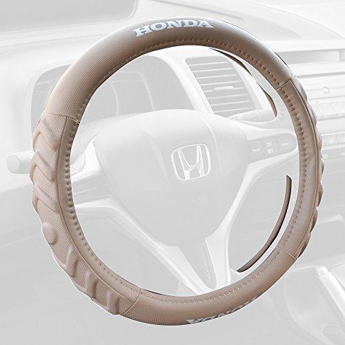 Honda HDWS-806MB Tan Beige Medium (14.5-15.5) 100% Odorless Car Steering Cover Standard (14.5 to 15.5 Inch Wheel)
