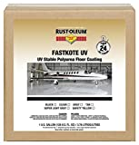 Rust-Oleum 280971 Black FastKote UV, UV Stable Polyurea Floor Coating, 1 gal Can