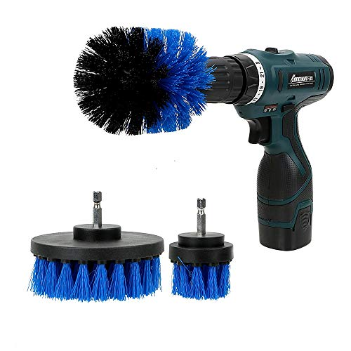 SalaBox-Accessories - 3pcs/set Drill Scrubber Brush Kit Car Brush Cleaning Tool Hard Bristle Auto Detailing Car Auto Care from SalaBox-Accessories
