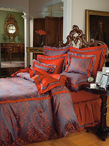 Logan Bedding Duvet Covers (Comforter Covers), Red (Full/Queen, each)