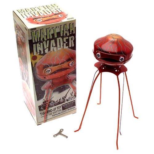 Tin plate War of the Worlds Martian tripod clockwork robot by Schylling