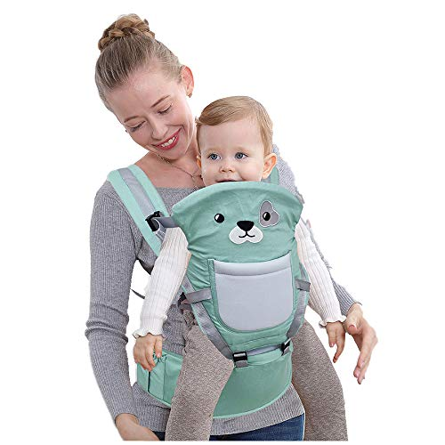 Baby Sling, Baby Carrier 4-in-1 Ergonomic Sling Baby Wrap Backpack Pouch Bag for 0-36 Months Newborn to Toddler(Green)