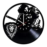 Everyday Arts World of Warcraft Legion Design Vinyl Record Wall Clock - Get Unique Bedroom or Garage Wall Decor - Gift Ideas for Friends, Brother - Darth Vader Unique Modern Art