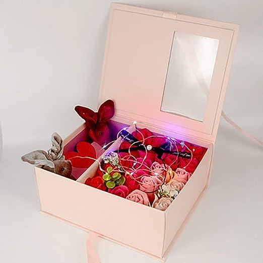 Zhan Hong Ramo de Flores Artificiales, Caja de Regalo para ...