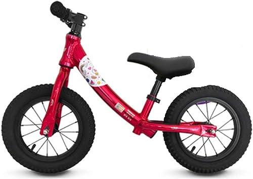 YUMEIGE Bicicletas sin Pedales Bicicletas sin Pedales Aleación De Aluminio, Bicicleta de Equilibrio para niños Adecuada For Altura 31.4-51.1 Pulgadas, 2-6 Años De Edad, Peso 30kg (Color : Pink): Amazon.es: Jardín