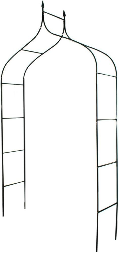 """1. GO Gothic Steel Garden Arch, 8'3"""" High x 4'5"""" Wide, Garden Arbor for Various Climbing Plant, Outdoor Garden Lawn Backyard"""