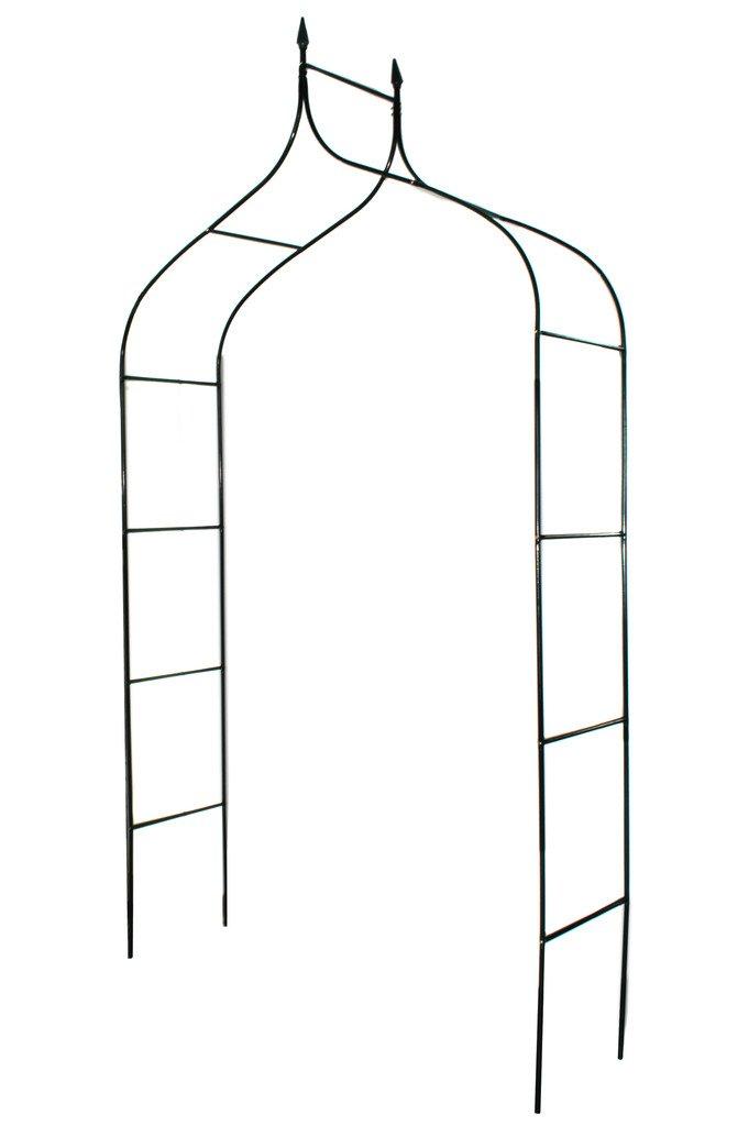 """1. GO Gothic Steel Garden Arch, 8'3"""" High x 4'5"""" Wide, Garden Arbor for Various Climbing Plant, Outdoor Garden Lawn Backyard 519lxFA57jL"""