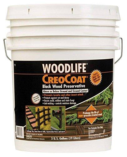 RUST-OLEUM 14435 Creocoat Wood, 5-Gallon, Black