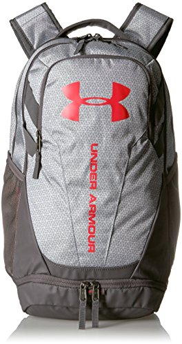 Under Armour Hustle 3.0 Backpack, White (101)/Red, One Size Fits All