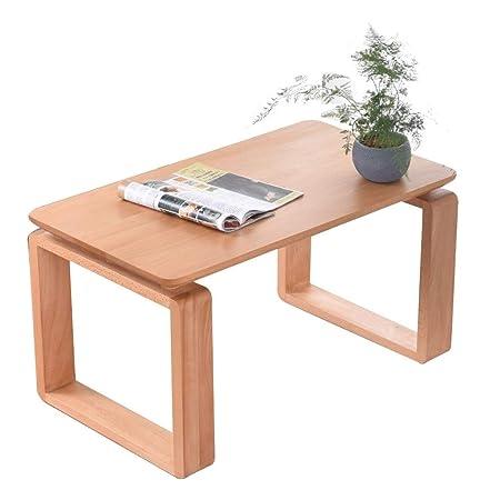 Mesas de café Mesita de Tatami Mesa Cuadrada de Madera Maciza con ...