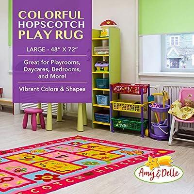 aula Hopscotch Rug Play Space /& Room Decor Alfombra de piso Alfombra regalo resistente para ni/ñas y ni/ños alfombra de juego de piso para ni/ños para dormitorio guarder/ía