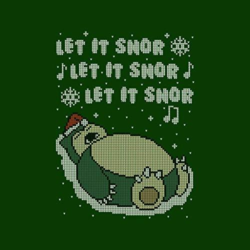 Snorlax Snorlax Women's Knit Green 7 Cloud Cloud Cloud Snor Christmas City Pokemon Sweatshirt Bottle Let Hooded Pattern It v6Xw8
