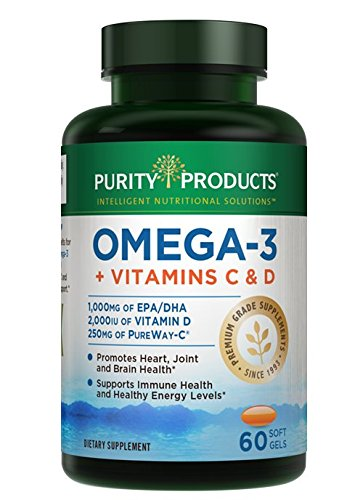 Purity Products - Omega-3 Plus Vitamin C & D, 60 softgels