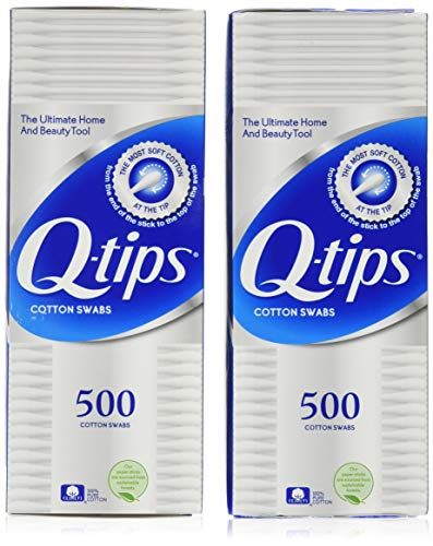 Q-tips Cotton Swabs 500 ea (Pack of two)
