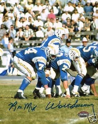 Ron Mix Autographed Photograph - Walt Sweeney & AFL Chargers 8x10 COA 'd - PSA/DNA Certified - Autographed NFL Photos