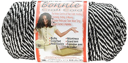 (Pepperell Bonnie Macrame Craft Cord, 4mm by 100 yd, Black Licorice)