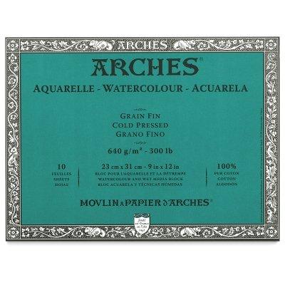Arches Watercolor Block, Cold Press, 9