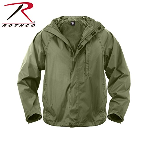 - Rothco Packable Rain Jacket, Olive Drab, Large