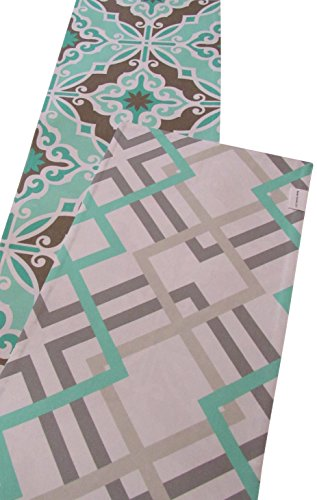 Crabtree Collection Double Turquiose Geometric