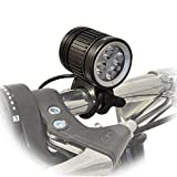 Lumintrail Bicycle Headlight Set 1600 Lumen LED Offroad Bike Light with Rechargeable 4400mAh Battery Pack for Mountain Road Cycling Includes Helmet Strap for Hiking Camping For Sale