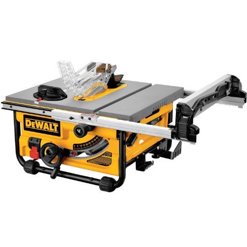 DEWALT DW745 10-Inch Compact Job-Site Table Saw with 20-Inch Max Rip Capacity, Corded 120V AC