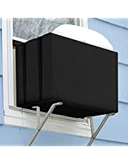 """Nomirosy Window Air Conditioner Unit Cover for Winter, Durable 600D Water-Resistant Black Window AC Unit Covers Outside for Freeze Protection (21.5"""" x 16"""" x 15"""")"""