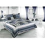 Beauty Sleep Bedding Printed 3 Piece Bedspread Quilt Set - Queen Size