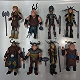 TL Newly Designed Set of 8 Pcs How to Train Your Dragon Hiccup Astrid Stoick Action Figures Toys