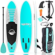 Serene Life SereneLife Premium Inflatable Stand Up Paddle Board (6 Inches Thick) with SUP Accessories & Ca