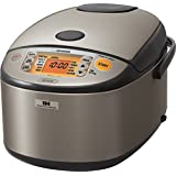 ZOJI Zojirushi NP-HCC18XH Induction Heating System Rice Cooker and Warmer, 1.8 L, Stainless Dark Gray