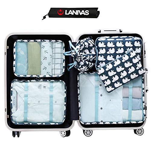 Packing Cubes for Carry On,Lanivas Small Medium Large Slim Travel Backpack Organizer Polar Bear from Lanivas
