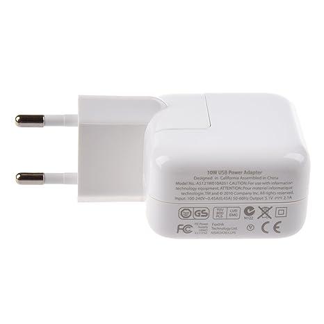 c6269af4eb2 REFURBISHHOUSE Blanco Cargador Adaptadores la normativa europea para iPad/ iPhone /iPod/Smartphones 2