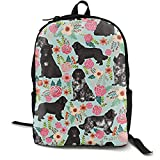 KHDAA Unisex Newfoundland Dogs Cut Puppy Print Backpack Brand Canvas Bag School Student Bookbags Daypack Laptop - Trousers2 Storefront