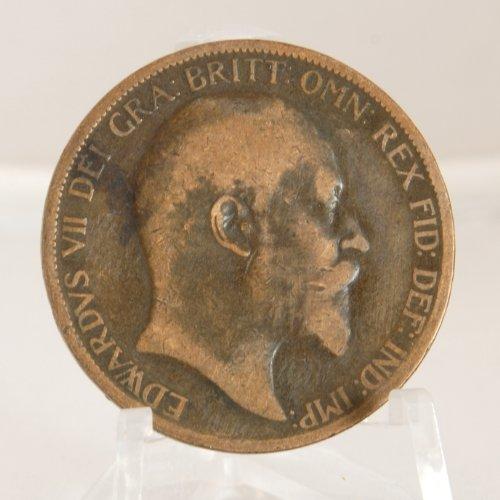 1902 One Penny (King Edward VII 1902 British One Large Penny)